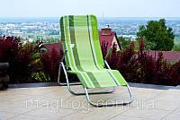Раскладной лежак зеленый