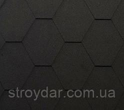 Бітумна черепиця Shinglas Classic KL колір чорний