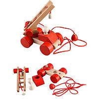 Деревянная игрушка Пожарная машина ТАТО, в коробке
