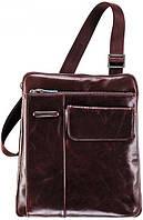 Надежная кожаная сумка через плечо для мужчин Piquadro Blue Square, CA1815B2_MO коричневый