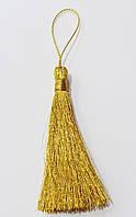 Кисти (мини) для  декора  люрекс  св. золото 7,5 см