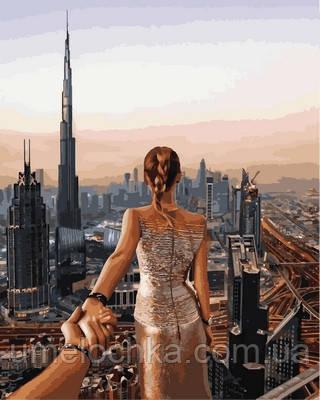 Картина-раскраска Турбо Следуй за мной Дубай Худ Мурад Османн (VP708) 40 х 50 см