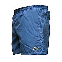 Мужские синие шорты с белой строчкой пр-во Украина  555-4