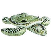"""Надувная игрушка """"Зеленая Морская Черепаха"""" Intex 57555, 191*170 см"""