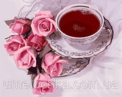 Картина по номерам Турбо Чай с суданской розой (VP737) 40 х 50 см