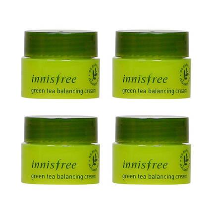 Крем для лица с экстрактом зеленого чая Innisfree Green Tea Balancing Cream, 5 мл, фото 2