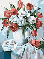 Картина по номерам без коробки Идейка Букет ярких тюльпанов (KHO2046) 30 х 40 см