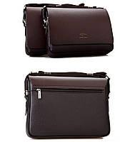 Стильна сумка Kangaroo Kingdom 25-33-8 см. Коричнева