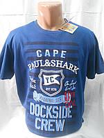 Мужская футболка тенниска Paul Shark пауль шарк Турция индиго синяя
