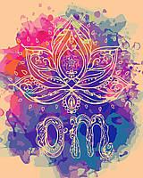 Раскраска на холсте без коробки Идейка Медитация (KHO5002) 40 х 50 см