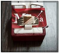 Серебряная мужская печатка с золотом Арт.081