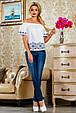 Блуза 2226 белый, фото 2