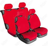 Майки на сиденья Beltex Cotton передние и задние красные 13610