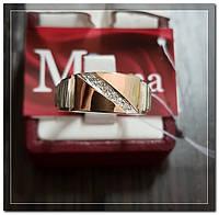 Серебряная мужская печатка с золотом Арт.077