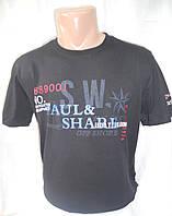 Мужская футболка тенниска Paul Shark пауль шарк Турция черная