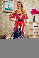 Яркое летнее платье в пол 2232 Seventeen 42-52 размеры