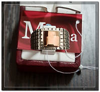 Серебряная мужская печатка с золотом Арт.076
