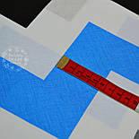 Ткань с макси-зигзагом черного, бирюзового и серого цвета, плотность 135 г/м2 (№ 774), фото 3