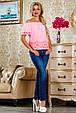 Блуза 2222 розовый, фото 3