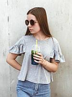 Женская футболка серая
