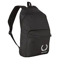 Рюкзак черный с синими полосками Fred perry  ф11391