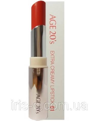 Увлажняющая губная помада коралловый AGE 20'S Extra Creamy Lipstick 02 / Soft Coral  5.6г