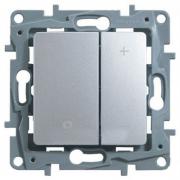 Светорегулятор нажимной 400 Вт, алюминий, Legrand Etika Легранд Этика