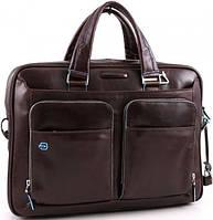 Кожаный портфель Piquadro коричневый
