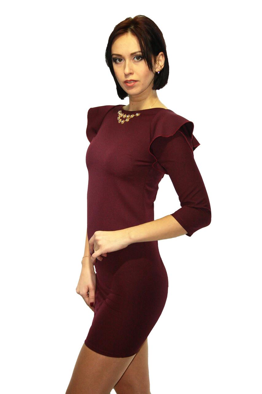 Платье Oscar Fur  ПКТ-11 Темно-бордовый