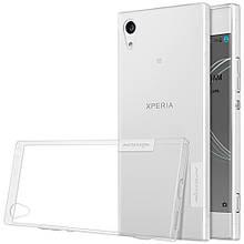 Чехол накладка силиконовый TPU Nillkin Nature 0.6 мм для Sony Xperia XA1 прозрачный