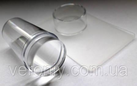 Штамп для стемпинга силиконовый  с колпачком (прозрачный)