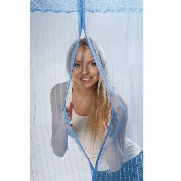 Москитная сетка на дверь Magic Mesh (210*90 см.) голубая