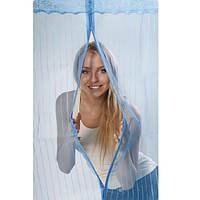 Москитная сетка на дверь Magic Mesh (210*90 см.) голубая, фото 1