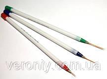 Набор кистей для дизайна ногтей (страйперы), 3 предмета