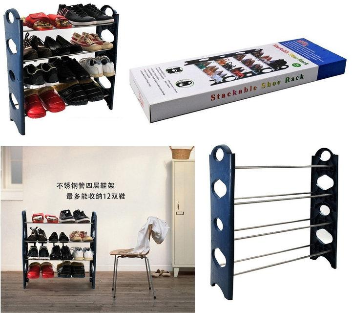 Органайзер для обуви Stackable Shoe Rack стойка для обуви на 12 пар обуви