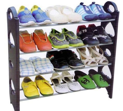 Органайзер для обуви Stackable Shoe Rack стойка для обуви на 12 пар обуви, фото 2