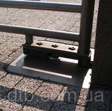 подземный привод для распашных ворот практически не заметен