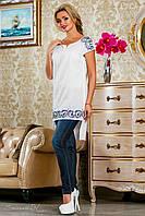 Белая летняя блуза 2224 Seventeen 44-50 размеры