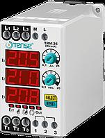 Реле струму контролю обмеження струму навантаження 3-х фазне с таймером диапазон 0,1-3A ціна купити