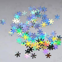Снежинки для дизайна ногтей № 2 (серебро, большие)