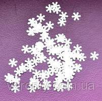 Снежинки для дизайна ногтей № 3 (белые, большие)