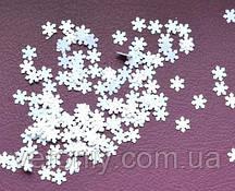 Снежинки для дизайна ногтей № 11 (белые, маленькие)