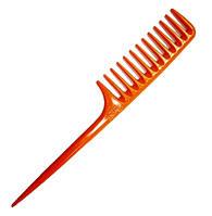 Расчёска с хвостиком парикмахерская оранжевая ДенІС