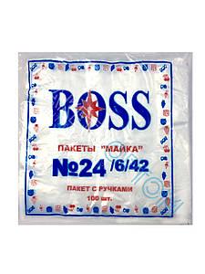 """Полиэтиленовые пакеты майка """"BOSS"""" №24"""