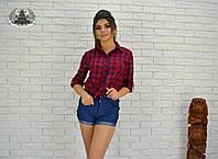 Рубашка женская в клетку РО2117, фото 1