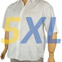 Сорочки повсякденні з коротким рукавом великих розмірів