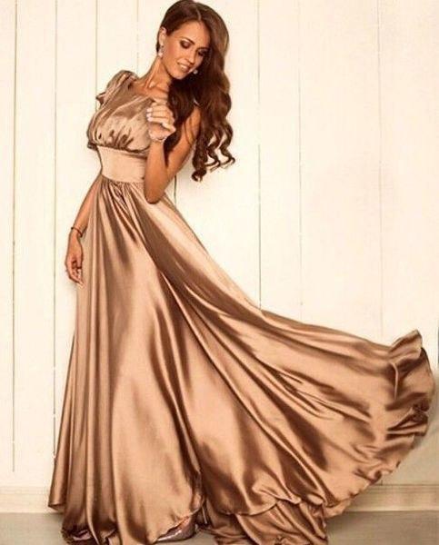 324d31ab4c28cce Длинное атласное платье в пол с пышной юбкой: продажа, цена в ...