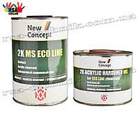 New Concept 2K MS ECO LINE прозрачный акриловый лак 1л + отвердитель 0,5л