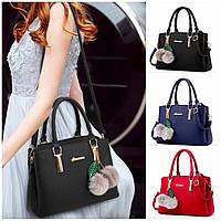 Женская сумка классическая AINUOER с помпонами