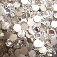 Стразы для ногтей Crystal SS 12 (серебро) 100 шт.